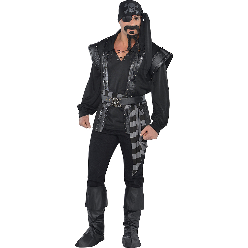 Adult Dark Sea Scoundrel Pirate Costume Image #1
