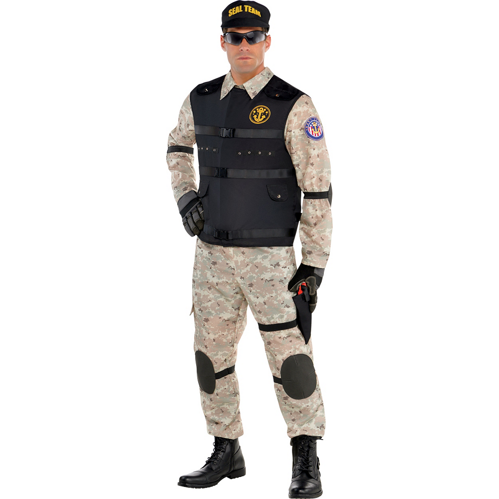 Adult SEAL Team Hero Costume Image #1
