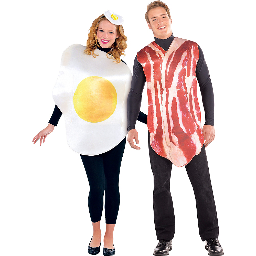 Adult Breakfast Buddies Bacon & Egg Costume Image #1