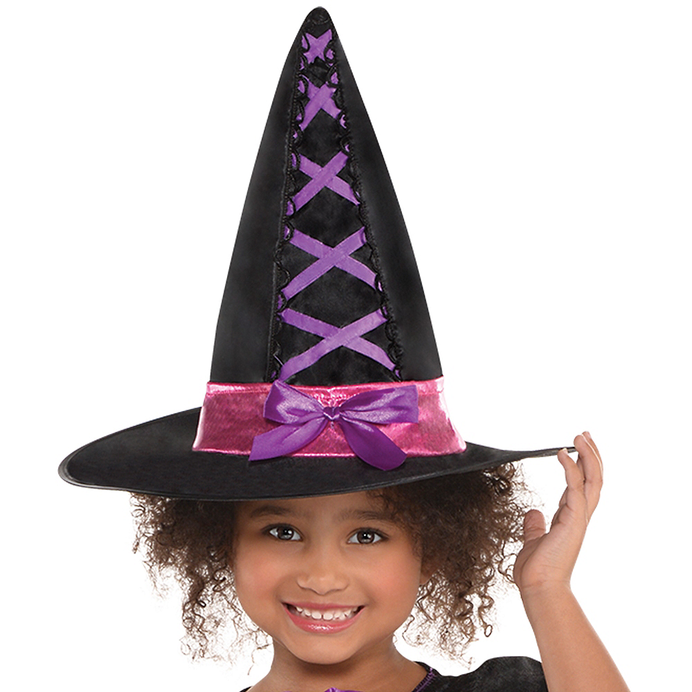 Nav Item for Girls Light-Up Sparkle Witch Costume Image #2