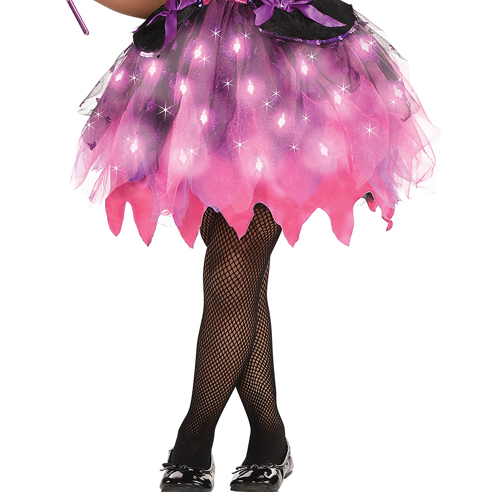 Nav Item for Girls Light-Up Sparkle Witch Costume Image #4