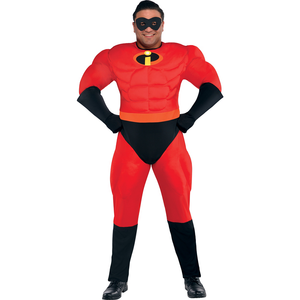Mens Mr. Incredible Muscle Costume Plus Size - The Incredibles Image #1