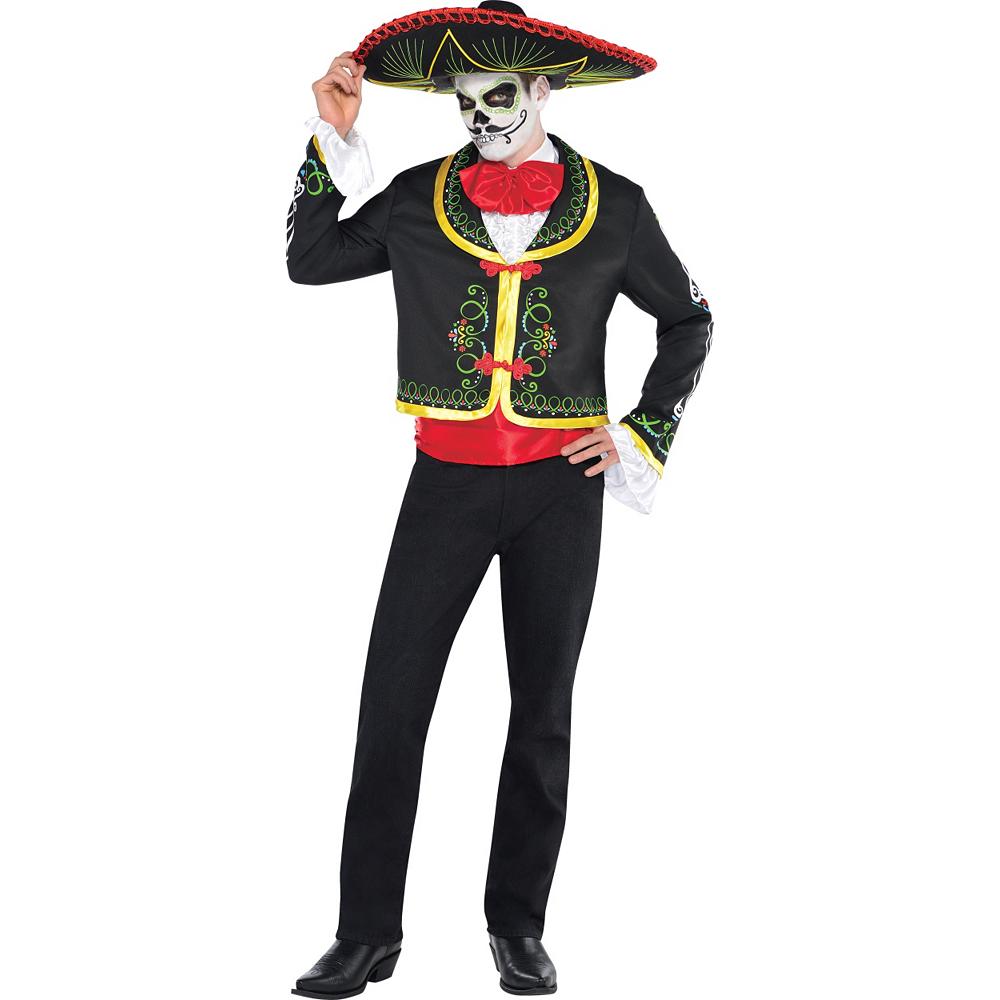 Adult Day of the Dead Sombrero Senor Costume Image #1