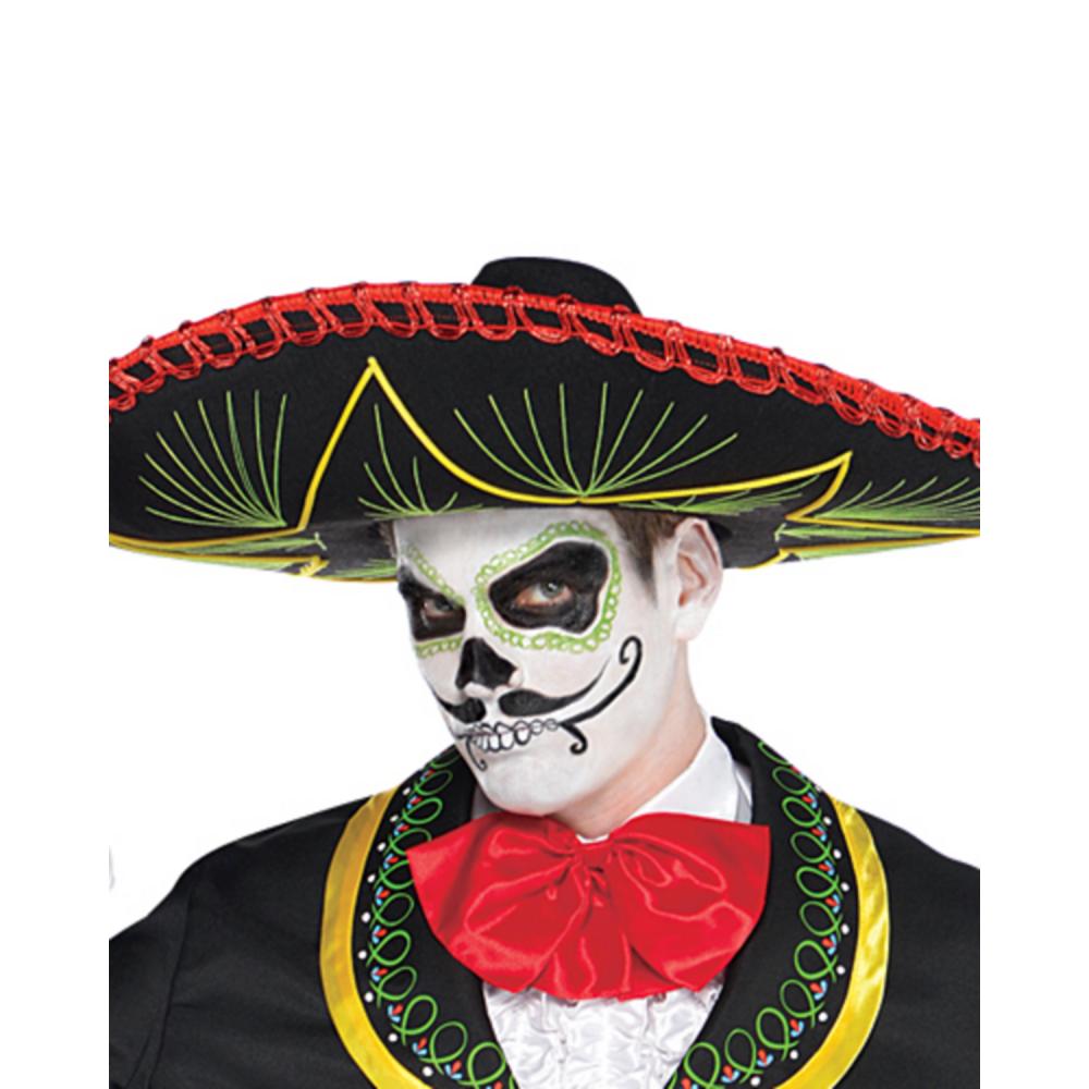 Adult Day of the Dead Sombrero Senor Costume Image #2