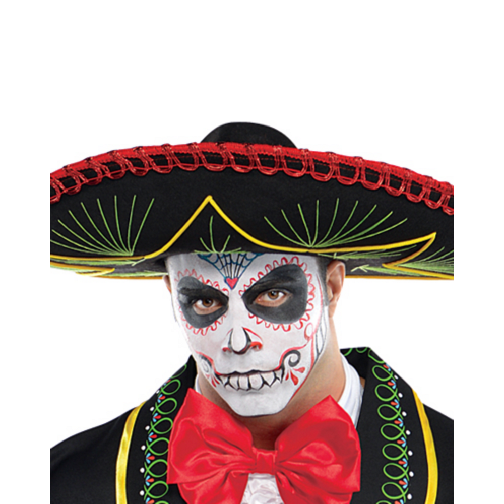 Adult Day of the Dead Sombrero Senor Costume Plus Size Image #2