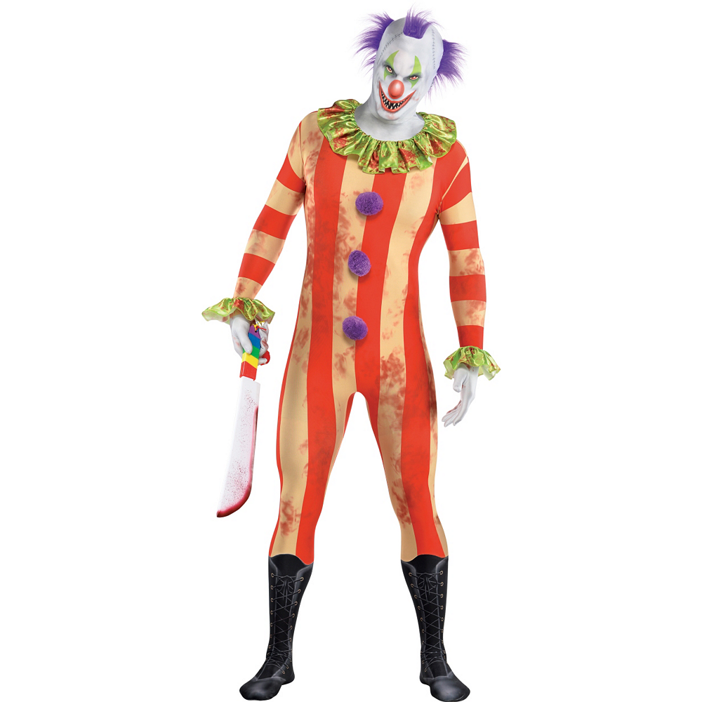 Nav Item for Adult Creepy Clown Partysuit Image #1