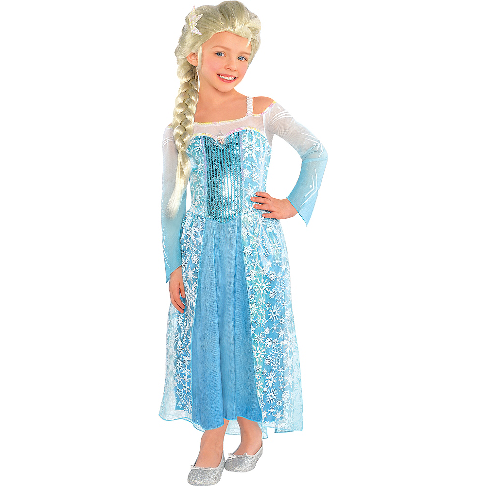 Frozen Elsa Costume For Girls Elsa Dress Party City