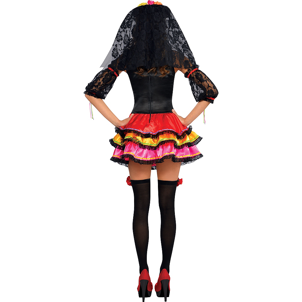 Adult Day of the Dead Senorita Costume Image #2