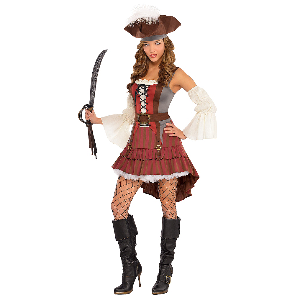 Adult Castaway Pirate Costume Image #1