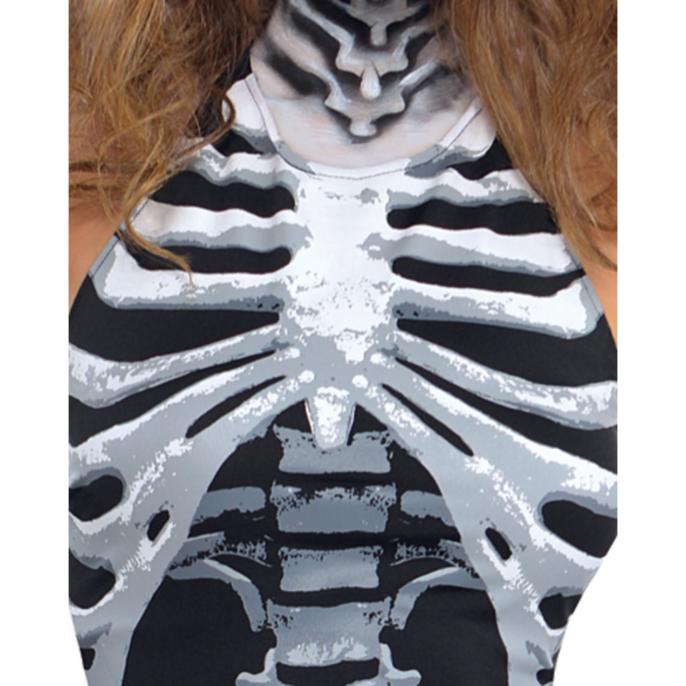 Nav Item for Adult Bone-A-Fied Babe Skeleton Costume Image #2