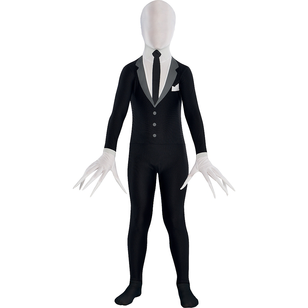Child Slender-Man Partysuit Image #1