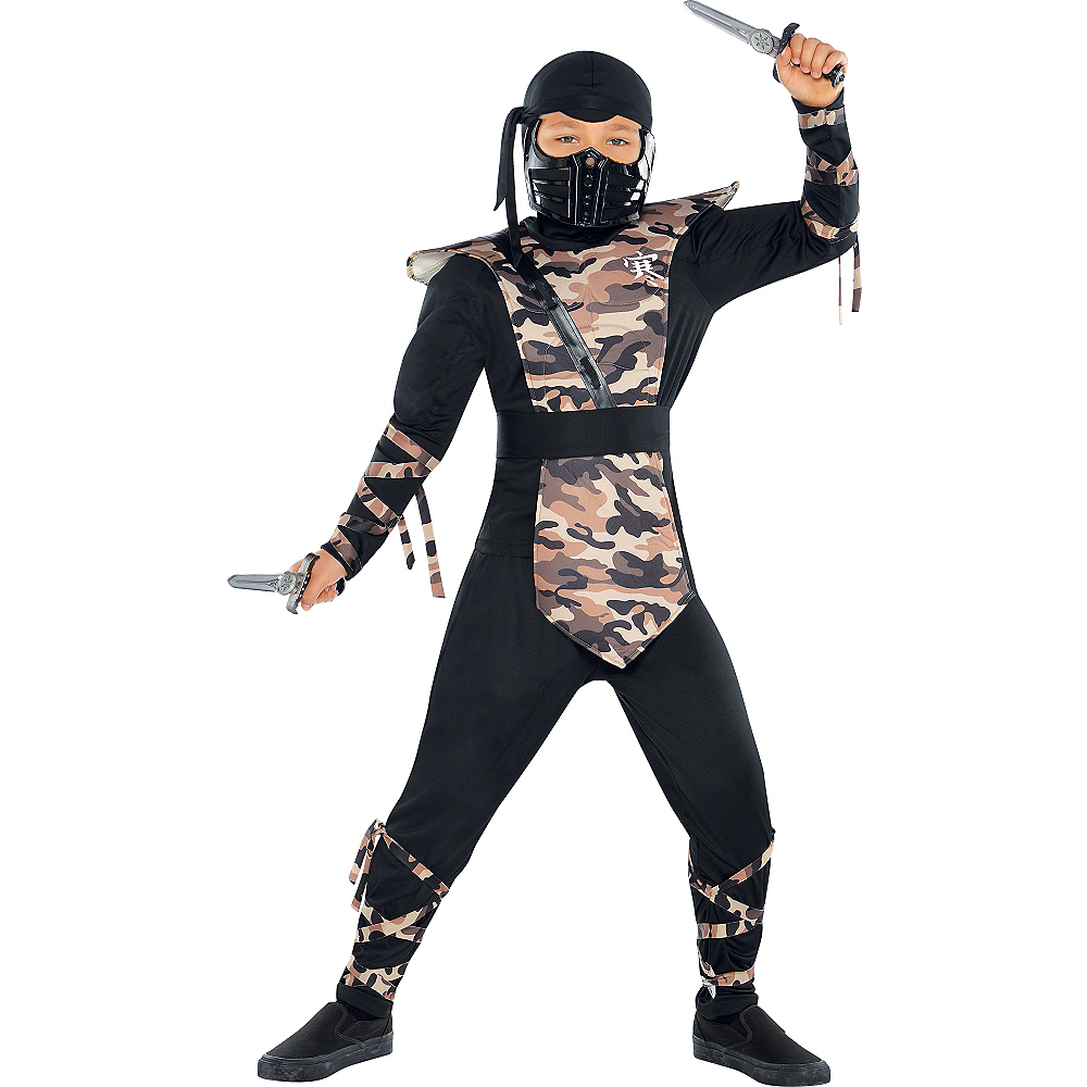 Nav Item for Boys Combat Ninja Costume Image #1