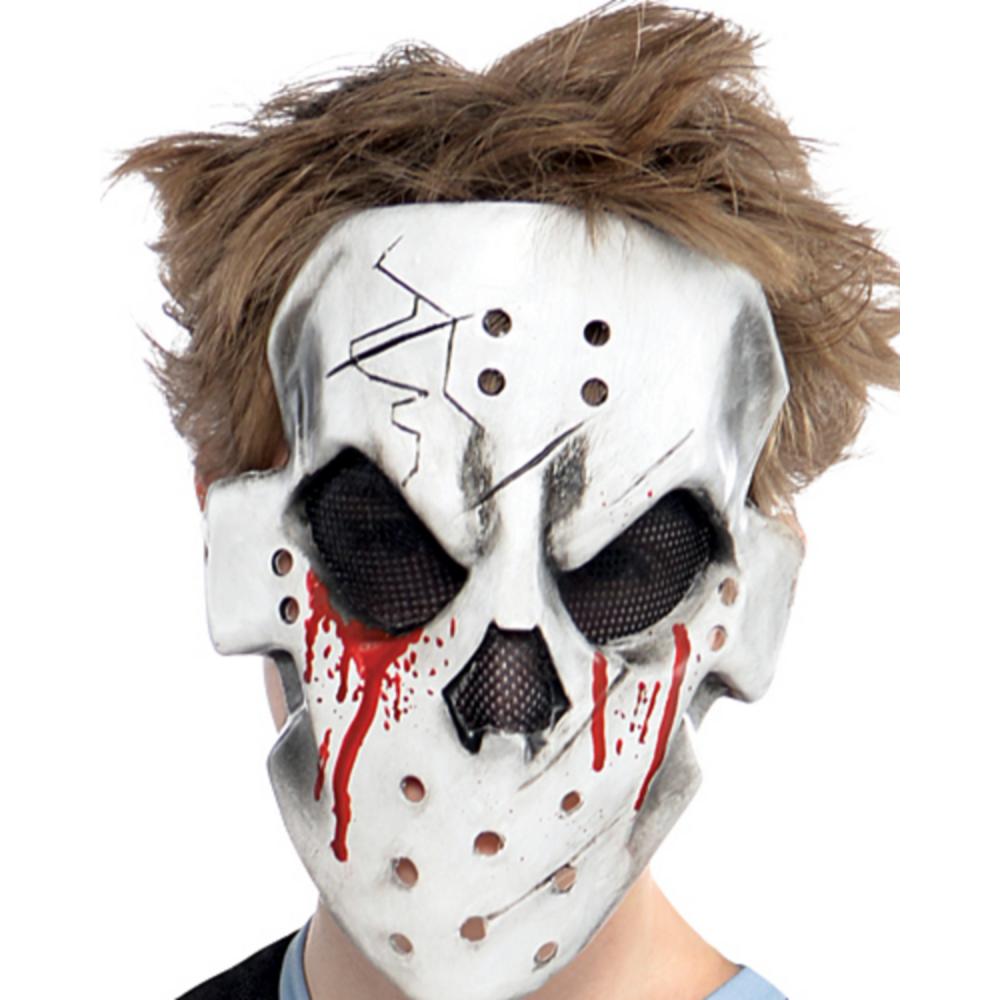 Boys Bloody Face-Off Hockey Costume Image #2