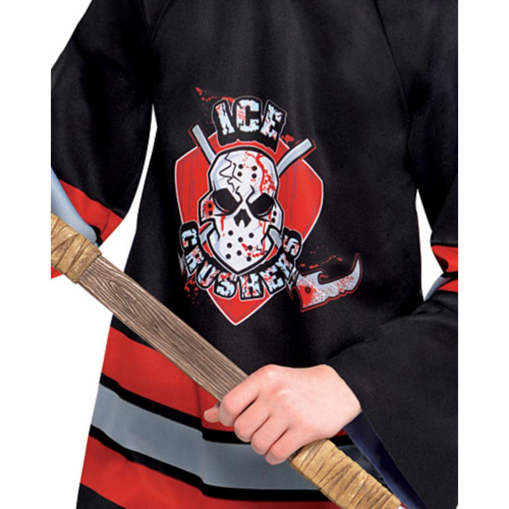 Boys Bloody Face-Off Hockey Costume Image #4