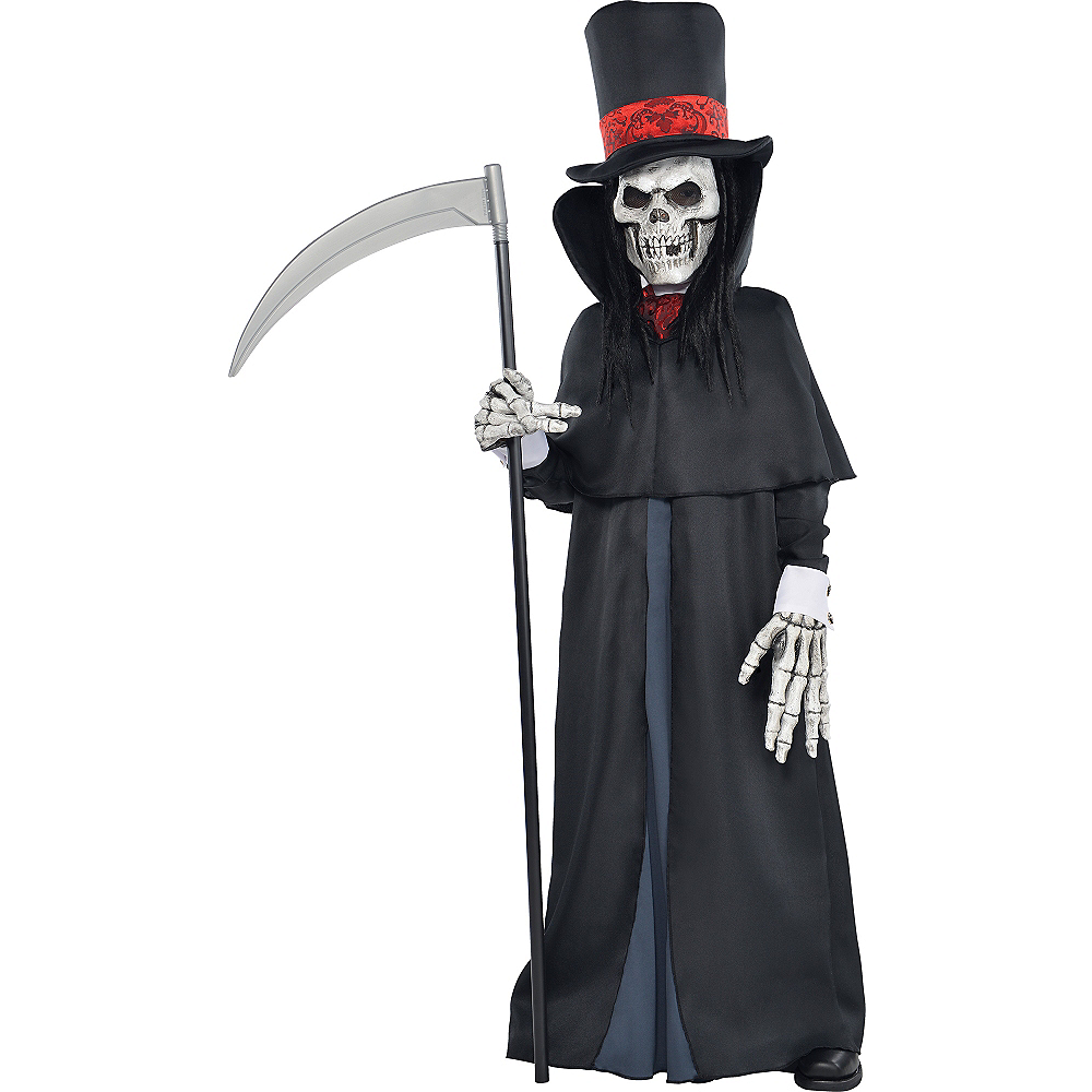 Boys Dapper Death Reaper Costume Image #1