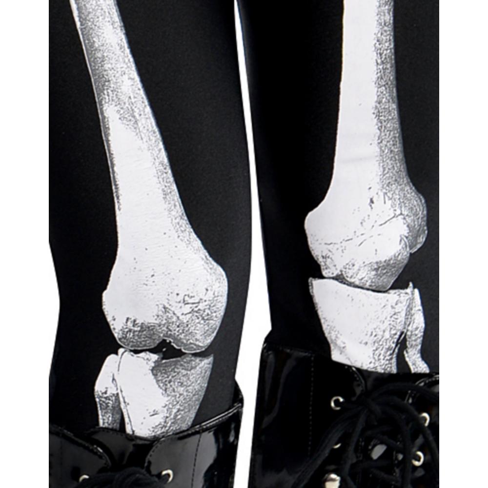 Adult Bare Bone Skeleton Costume Image #4