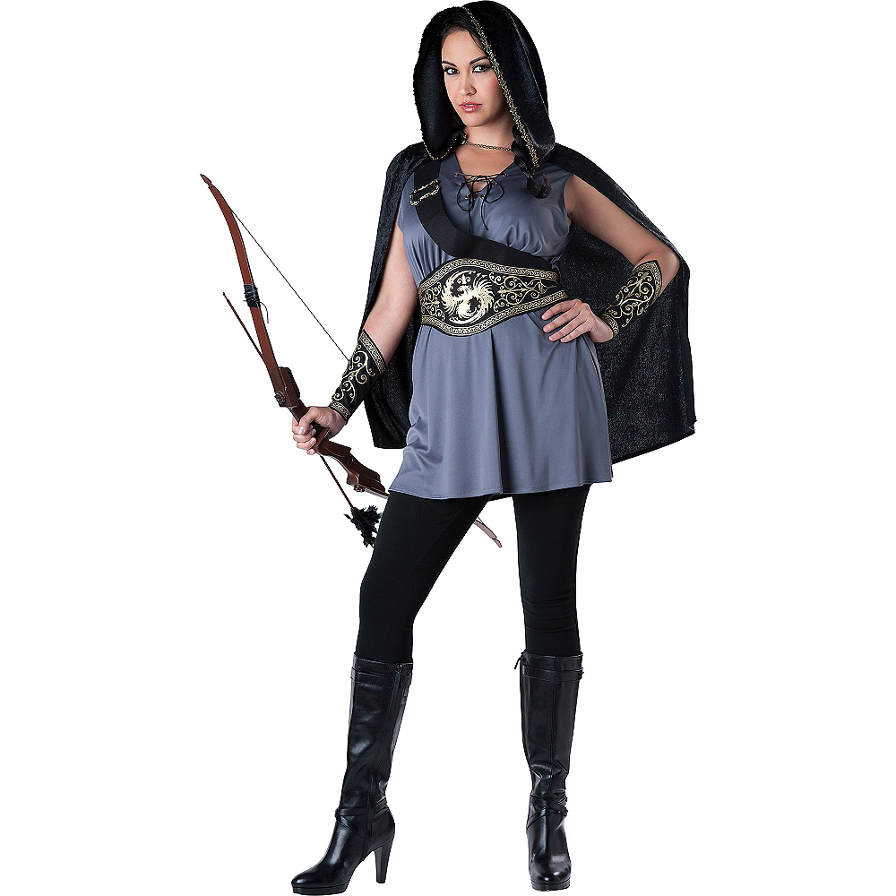 Nav Item for Adult Huntress Costume Plus Size Image #1