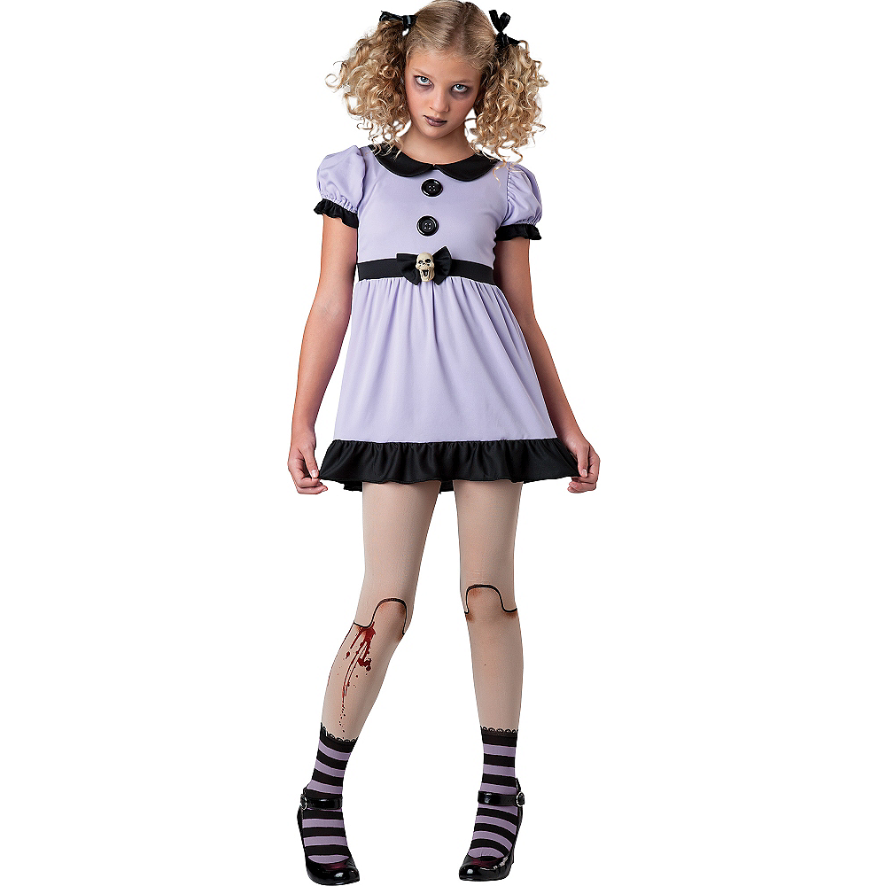 Teen Girls Dead Doll Costume Image #1