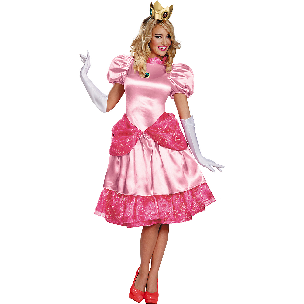 Adult Princess Peach Costume Deluxe - Super Mario Brothers Image #1