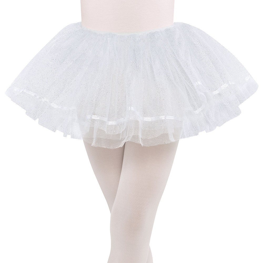 Child Shimmer White Tutu Image #1