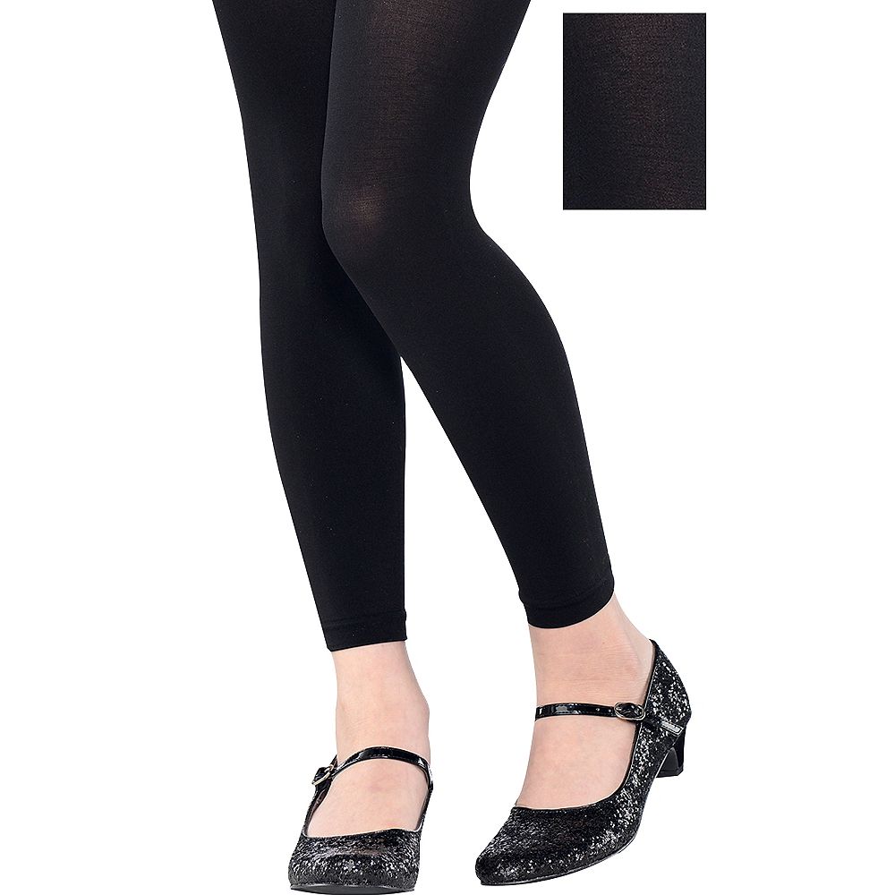f98eda0242525 Child Black Footless Tights | Party City