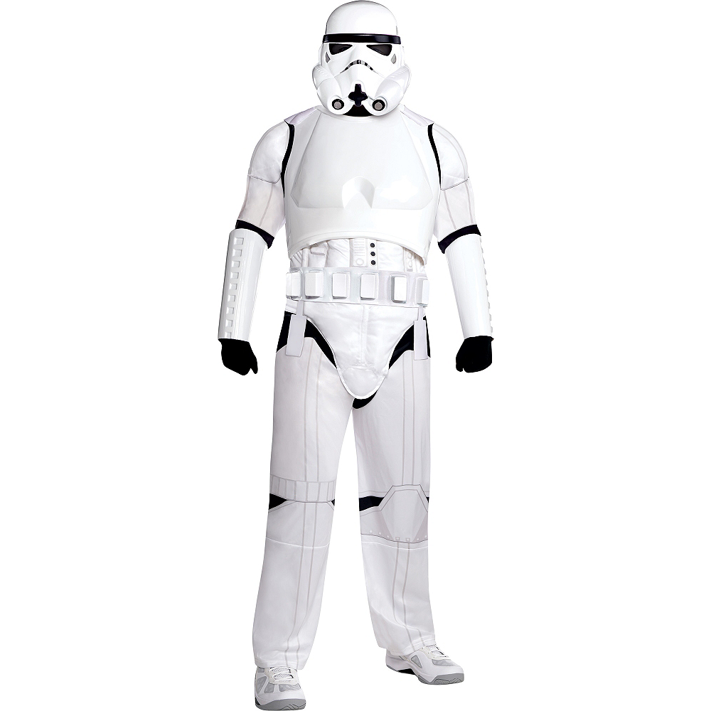 Adult Stormtrooper Costume Plus Size Deluxe - Star Wars Image #1