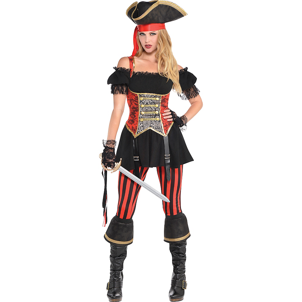 Adult Lassie Lady Pirate Costume Image #1