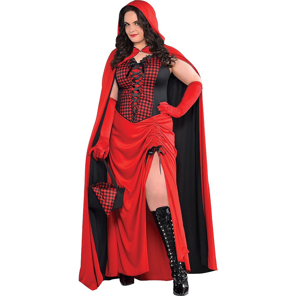 Adult Enchantress Red Riding Hood Costume Plus Size Image #1