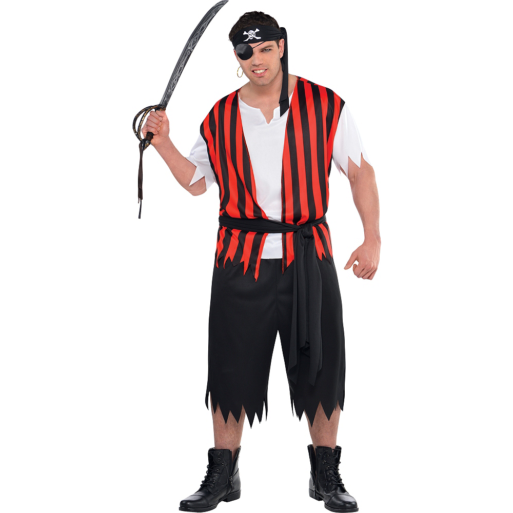 Adult Ahoy Matey Pirate Costume Plus Size Image #1