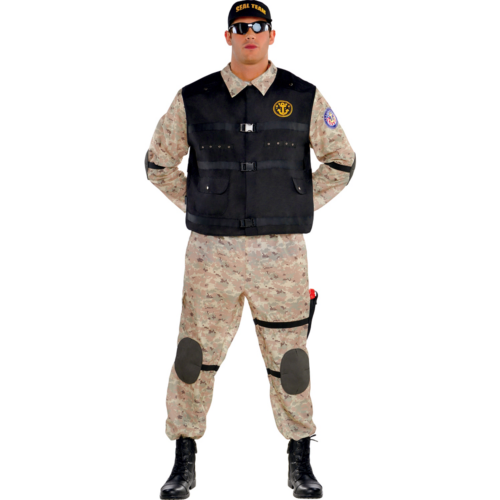 Adult Seal Team Hero Costume Plus Size Image #1