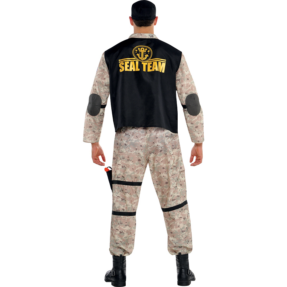Adult Seal Team Hero Costume Plus Size Image #2