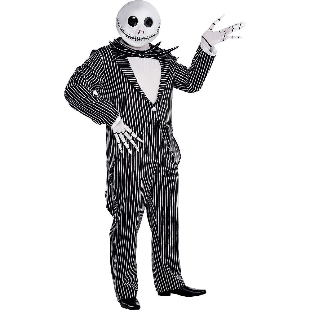 Adult Jack Skellington Costume Plus Size - The Nightmare Before Christmas Image #1