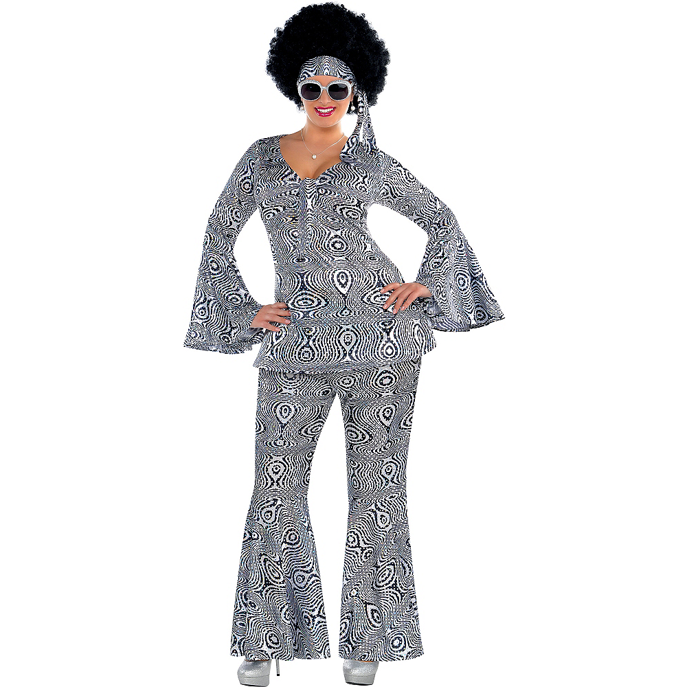Adult Dancing Queen Disco Costume Plus Size Image #1