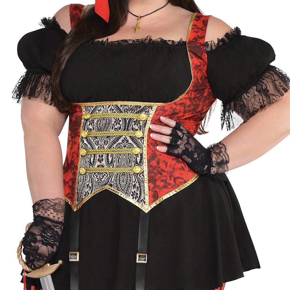 Adult Lassie Lady Pirate Costume Plus Size Image #3