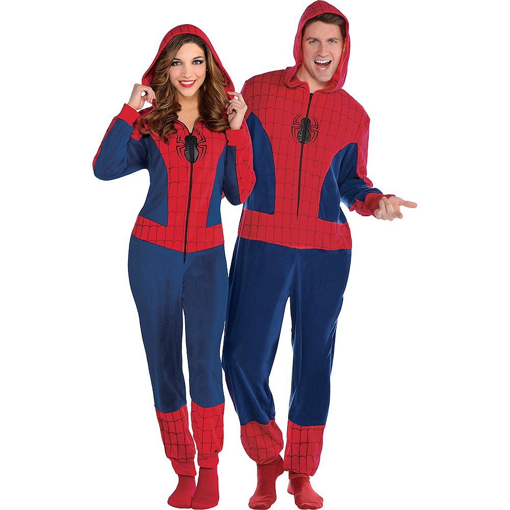 Zipster Spider-Man One Piece Costume Image #1