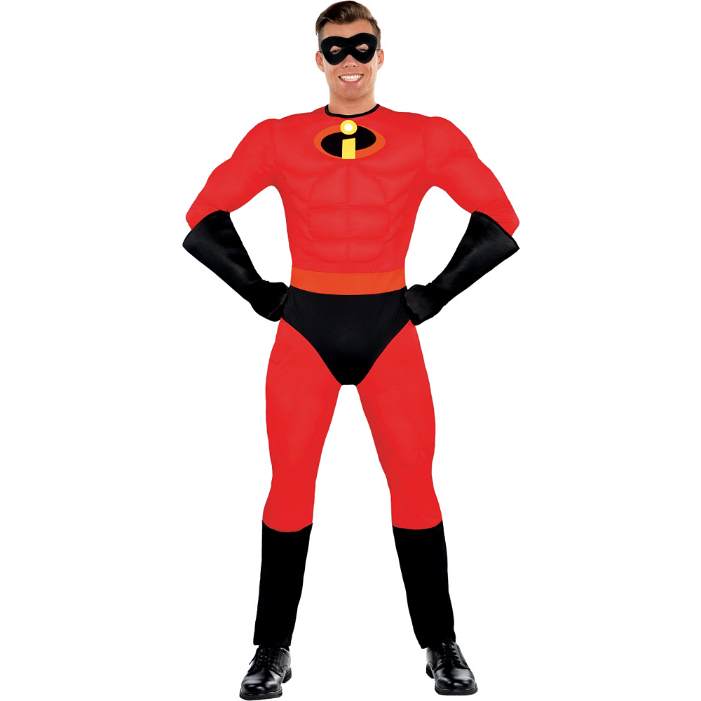 Mens Mr. Incredible Muscle Costume - The Incredibles Image #1