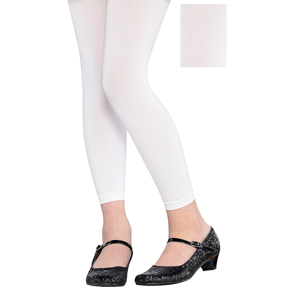 Child White Footless Tights Image #1