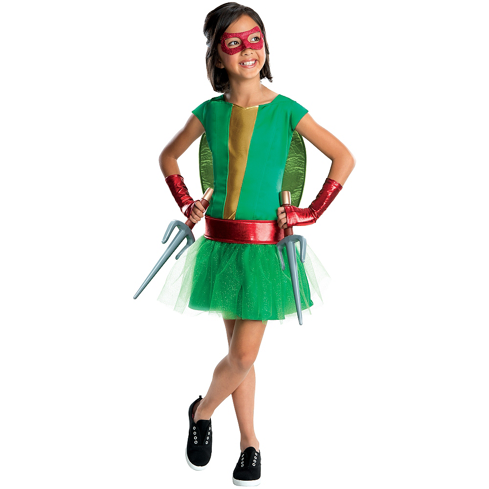 Girls Raphael Costume Deluxe - Teenage Mutant Ninja Turtles Image #1