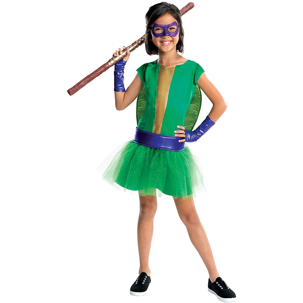 Girls Donatello Costume Deluxe - Teenage Mutant Ninja Turtles Image #1