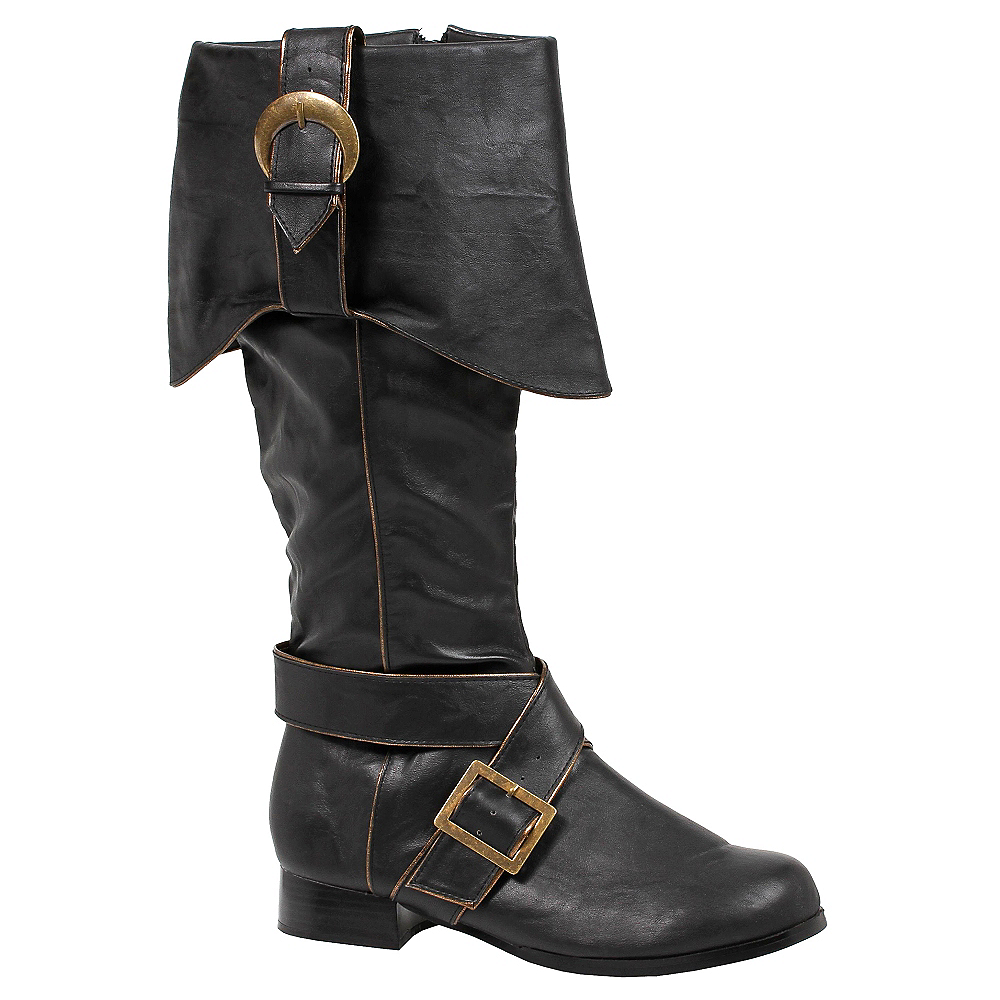 Adult Black Pirate Boots Image #1