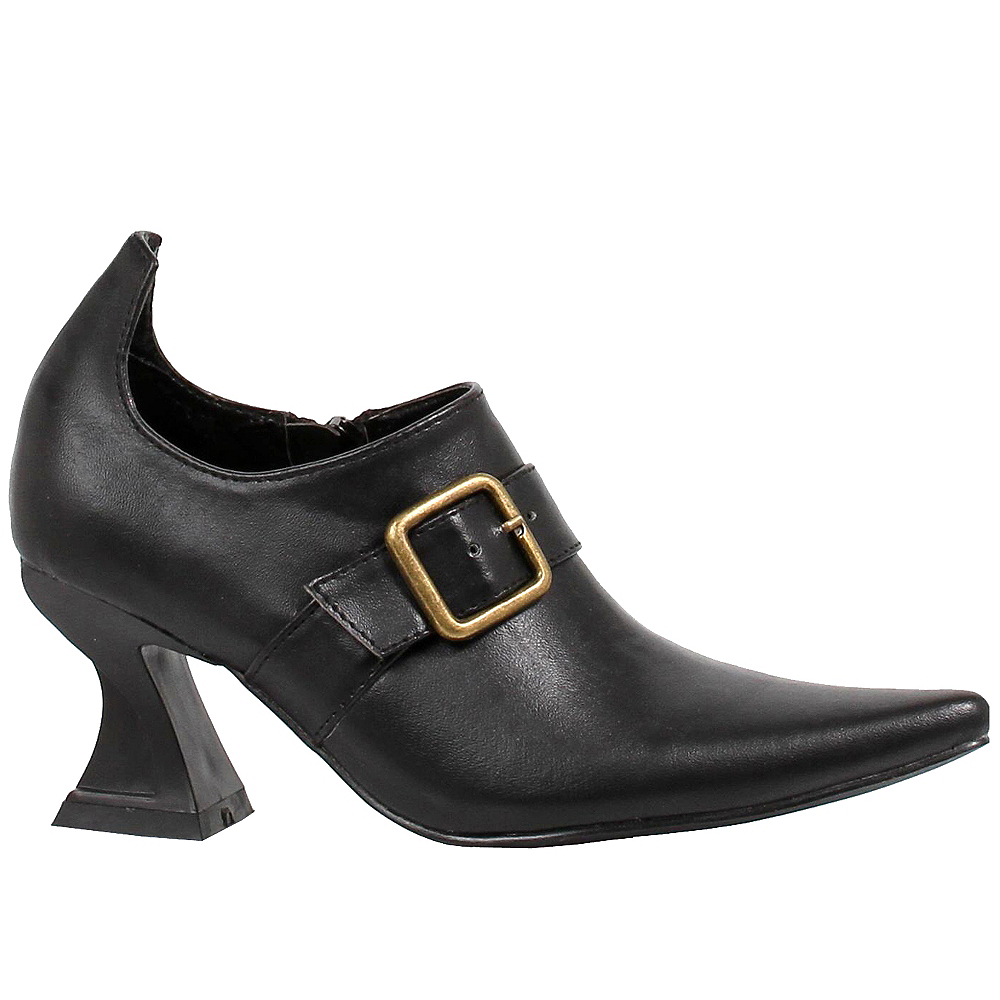 Nav Item for Adult Black Witch Ankle Boots Image #1