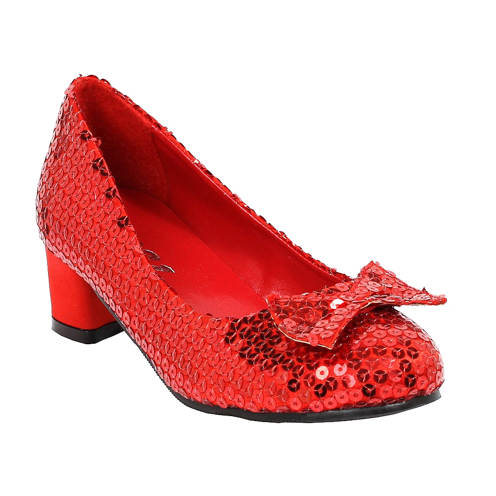 Girls Red Sequin Shoes Image #1