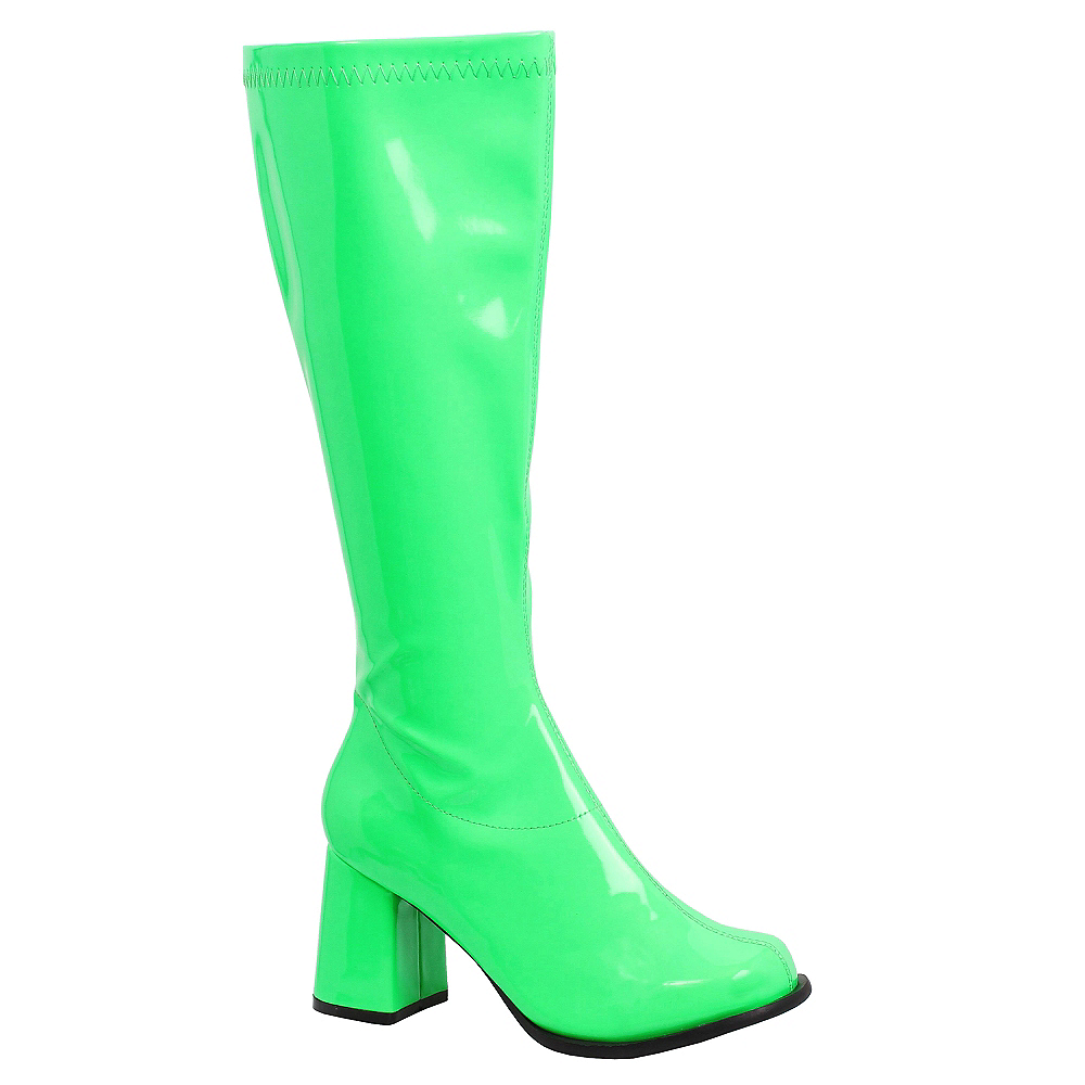 Nav Item for Adult Neon Green Go-Go Boots Image #1