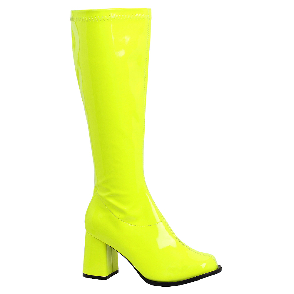 Nav Item for Adult Neon Yellow Go-Go Boots Image #1