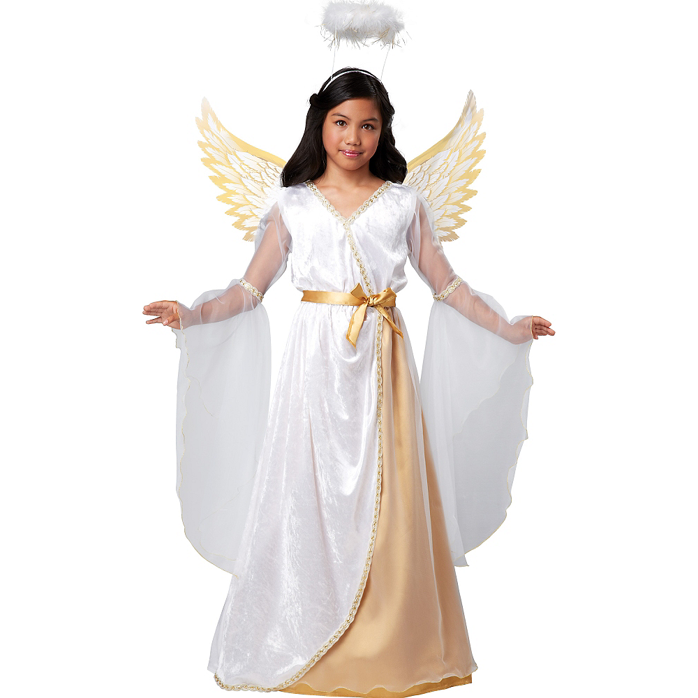 Girls Guardian Angel Costume Image #1