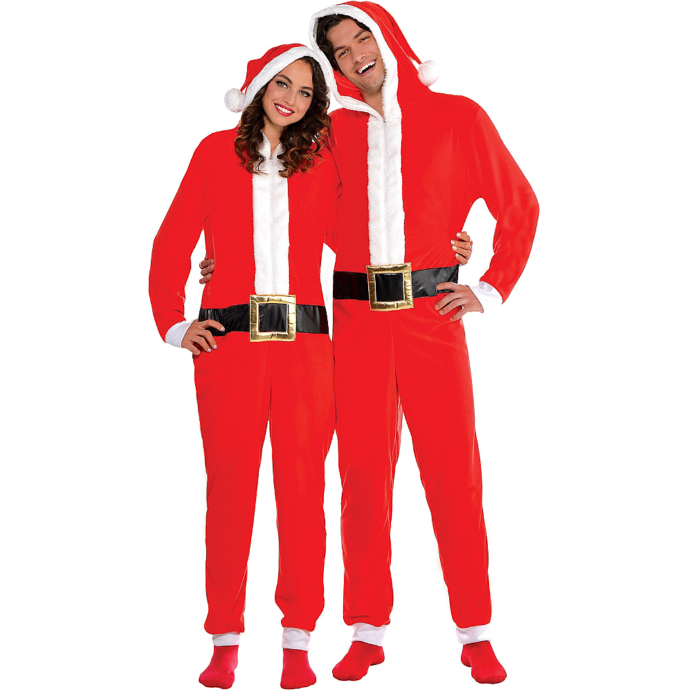 Zipster Santa One Piece Costume Image #1
