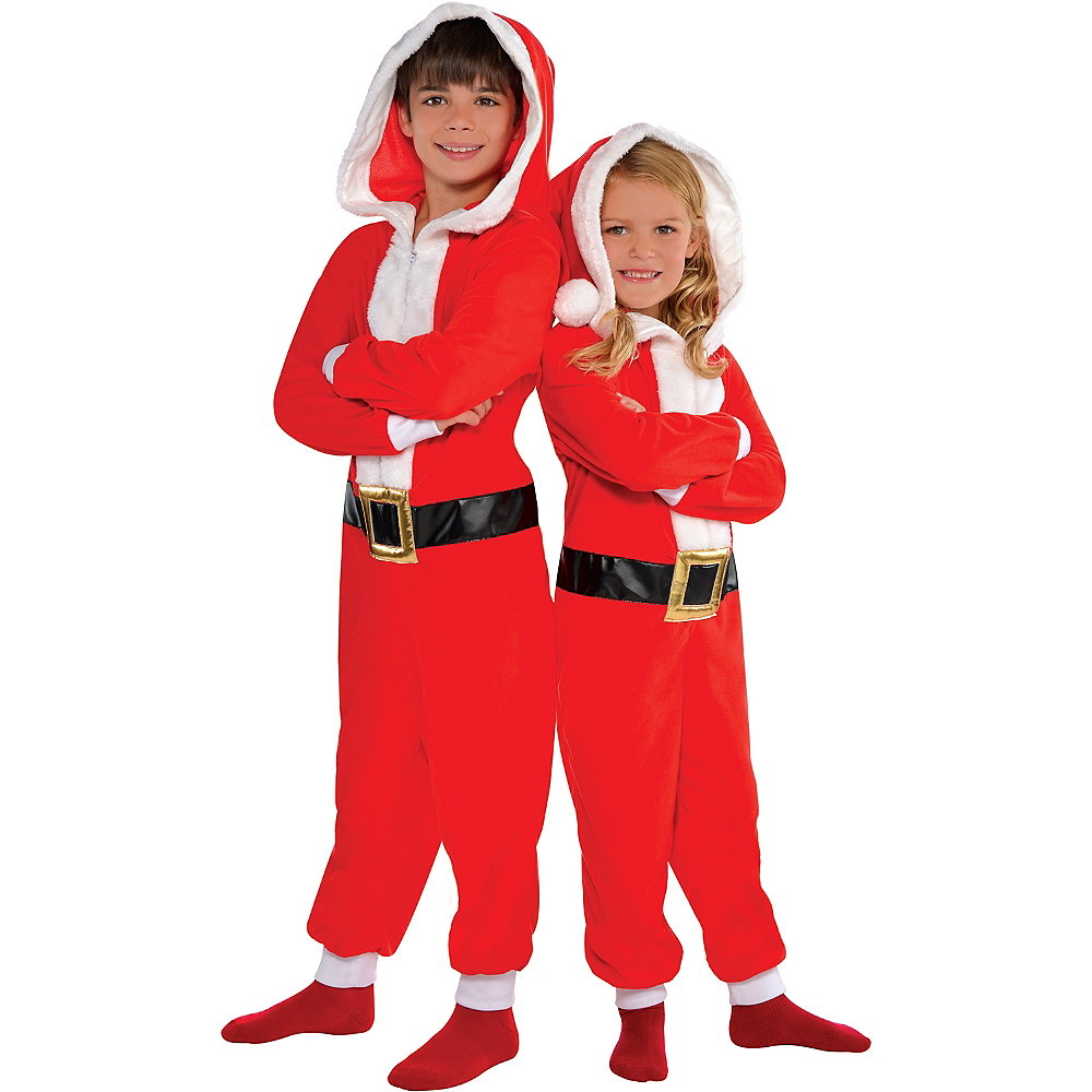 Child Santa One Piece Costume Image #1