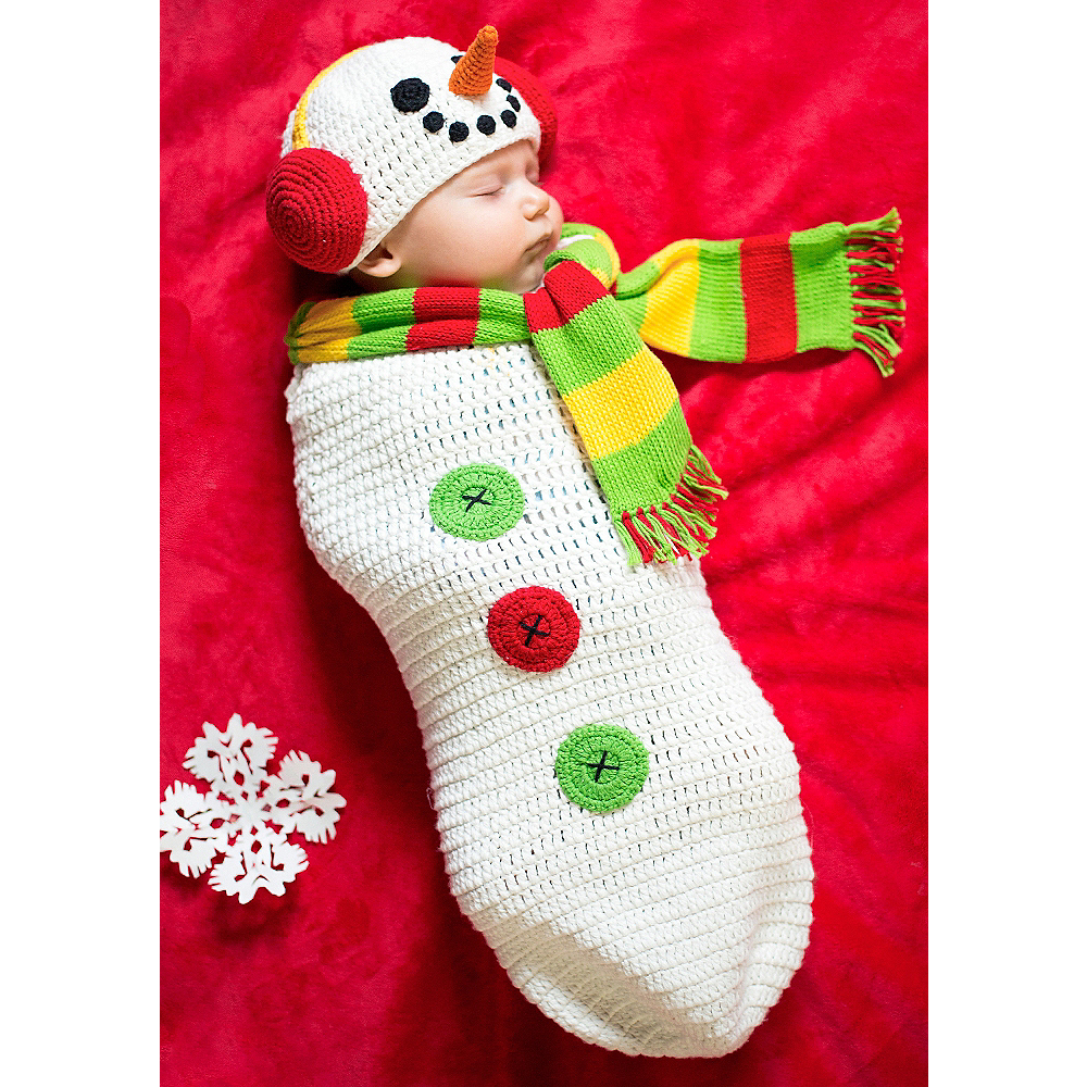 Nav Item for Baby Crochet Cocoon Snow Baby Costume Image #1
