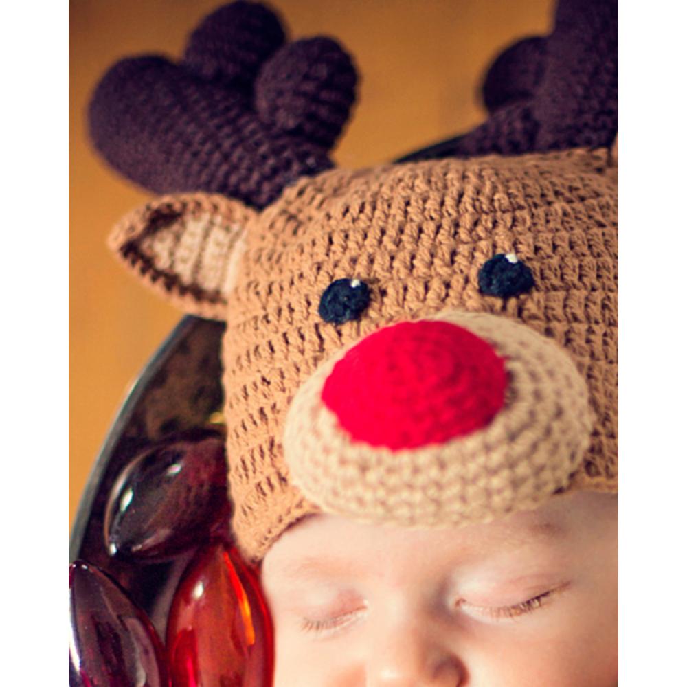 Baby Crochet Cocoon Randolph Reindeer Costume Image #2