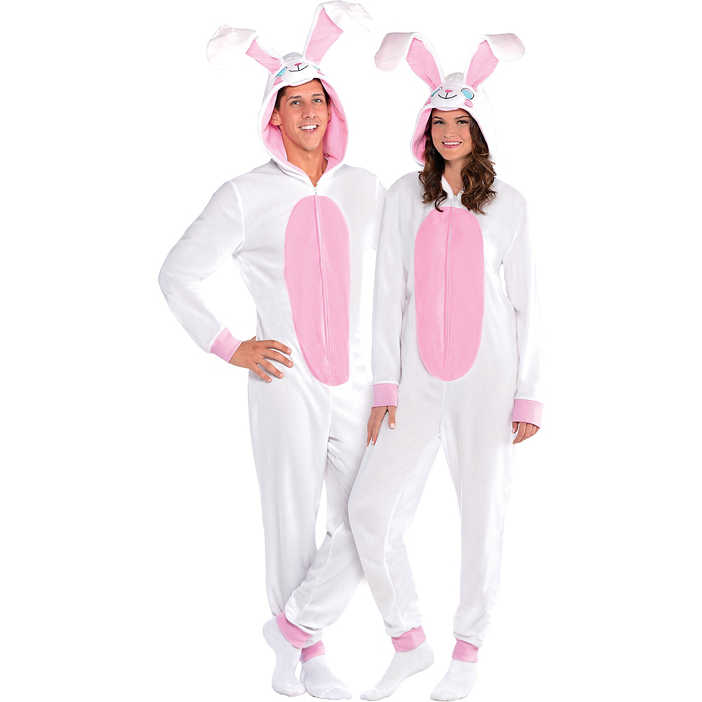 Adult Easter Bunny One Piece Pajamas Image #2